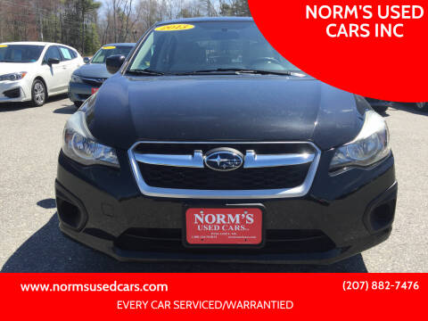 2013 Subaru Impreza for sale at NORM'S USED CARS INC in Wiscasset ME