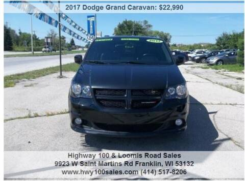 2017 Dodge Grand Caravan for sale at Highway 100 & Loomis Road Sales in Franklin WI