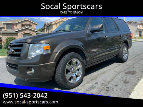 2008 Ford Expedition for sale at Socal Sportscars in Covina CA