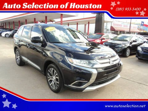 2017 Mitsubishi Outlander for sale at Auto Selection of Houston in Houston TX