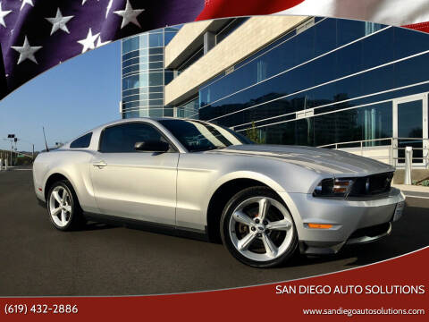 2012 Ford Mustang for sale at San Diego Auto Solutions in Escondido CA