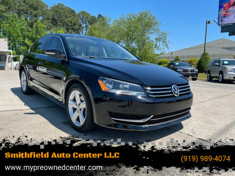 2013 Volkswagen Passat for sale at Smithfield Auto Center LLC in Smithfield NC