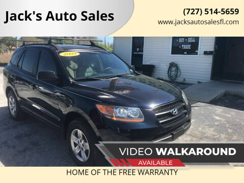 2009 Hyundai Santa Fe for sale at Jack's Auto Sales in Port Richey FL