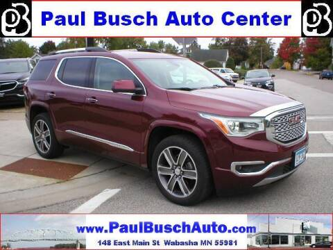 2017 GMC Acadia for sale at Paul Busch Auto Center Inc in Wabasha MN