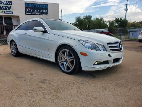 2010 Mercedes-Benz E-Class for sale at Zora Motors in Houston TX