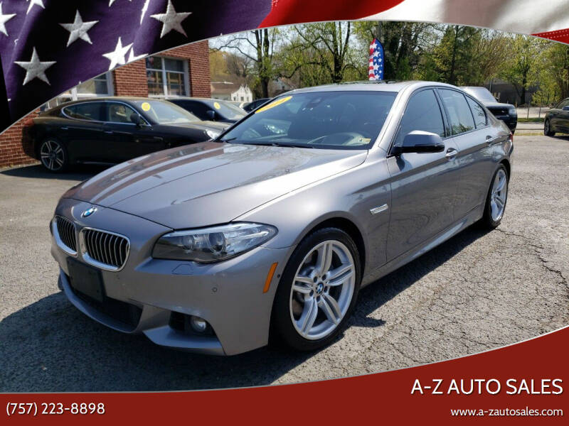 2014 BMW 5 Series for sale at A-Z Auto Sales in Newport News VA