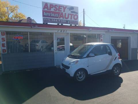 2013 Smart fortwo for sale at Apsey Auto in Marshfield WI