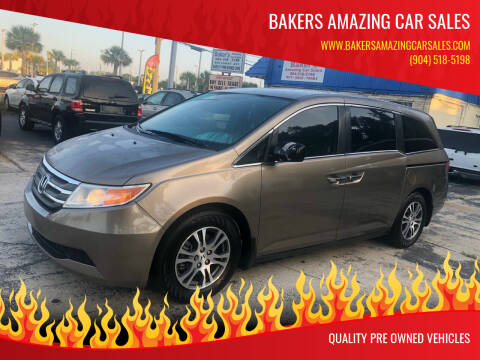2013 Honda Odyssey for sale at Bakers Amazing Car Sales in Jacksonville FL