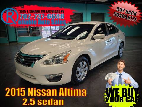 2015 Nissan Altima for sale at Reliable Auto Sales in Las Vegas NV
