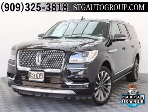 2020 Lincoln Navigator L for sale at STG Auto Group in Montclair CA