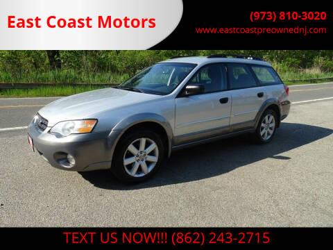 2006 Subaru Outback for sale at East Coast Motors in Lake Hopatcong NJ