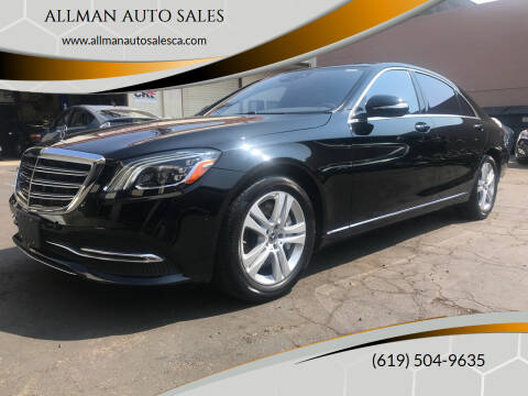2019 Mercedes-Benz S-Class for sale at ALLMAN AUTO SALES in San Diego CA