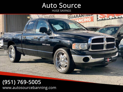 2005 Dodge Ram Pickup 1500 for sale at Auto Source in Banning CA