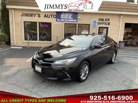 2017 Toyota Camry Hybrid for sale at JIMMY'S AUTO WHOLESALE in Brentwood CA