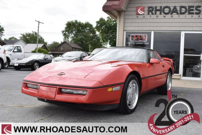 1989 Chevrolet Corvette for sale at Rhoades Automotive Inc. in Columbia City IN