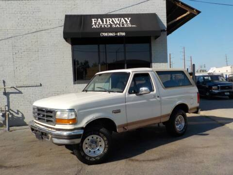 1995 Ford Bronco for sale at FAIRWAY AUTO SALES, INC. in Melrose Park IL