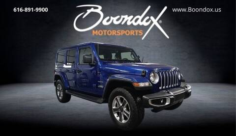 2020 Jeep Wrangler Unlimited for sale at Boondox Motorsports in Caledonia MI