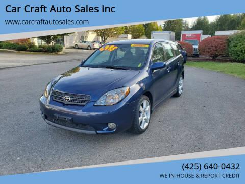 2007 Toyota Matrix for sale at Car Craft Auto Sales Inc in Lynnwood WA