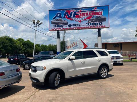 2012 Dodge Durango for sale at ANF AUTO FINANCE in Houston TX
