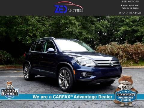 2012 Volkswagen Tiguan for sale at Zed Motors in Raleigh NC