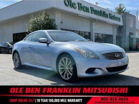 2009 Infiniti G37 Convertible for sale at Ole Ben Franklin Mitsbishi in Oak Ridge TN