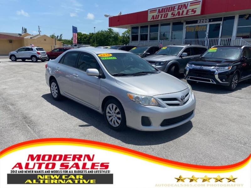 2012 Toyota Corolla for sale at Modern Auto Sales in Hollywood FL