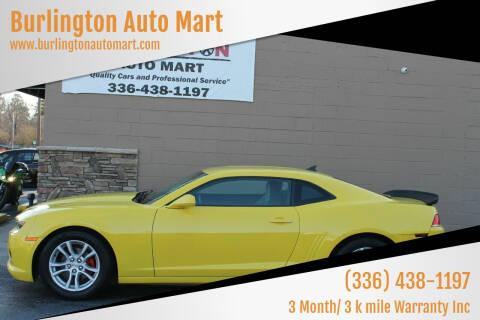 2015 Chevrolet Camaro for sale at Burlington Auto Mart in Burlington NC