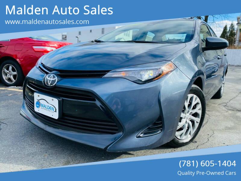 2017 Toyota Corolla for sale at Malden Auto Sales in Malden MA