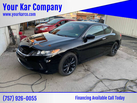 2014 Honda Accord for sale at Your Kar Company in Norfolk VA