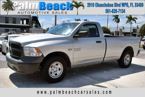2013 RAM Ram Pickup 1500 for sale at Palm Beach Automotive Sales in West Palm Beach FL