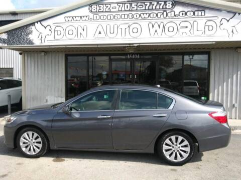2013 Honda Accord for sale at Don Auto World in Houston TX