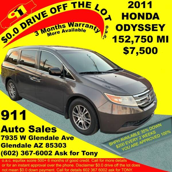 2011 Honda Odyssey for sale at 911 AUTO SALES LLC in Glendale AZ