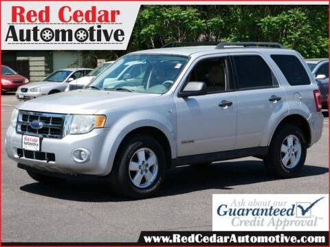 2008 Ford Escape for sale at Red Cedar Automotive in Menomonie WI
