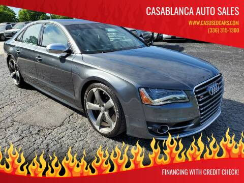 2014 Audi S8 for sale at CASABLANCA AUTO SALES in Greensboro NC