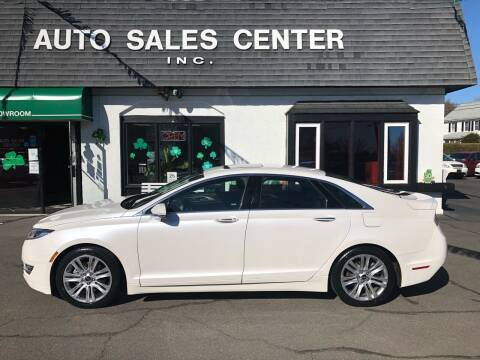 2016 Lincoln MKZ for sale at Auto Sales Center Inc in Holyoke MA