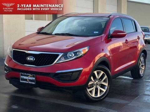 2015 Kia Sportage for sale at European Motors Inc in Plano TX