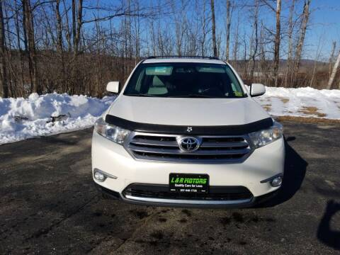 2012 Toyota Highlander for sale at L & R Motors in Greene ME