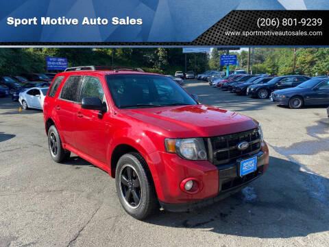 2010 Ford Escape for sale at Sport Motive Auto Sales in Seattle WA