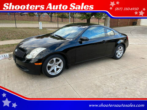 2007 Infiniti G35 for sale at Shooters Auto Sales in Fort Worth TX