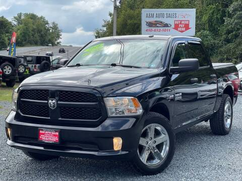2016 RAM Ram Pickup 1500 for sale at A&M Auto Sales in Edgewood MD