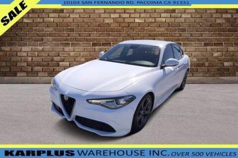 2018 Alfa Romeo Giulia for sale at Karplus Warehouse in Pacoima CA