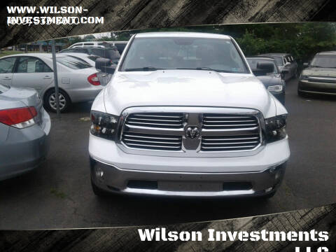 2013 RAM Ram Pickup 1500 for sale at Wilson Investments LLC in Ewing NJ
