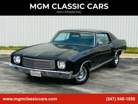 1970 Chevrolet Monte Carlo for sale at MGM CLASSIC CARS in Addison, IL