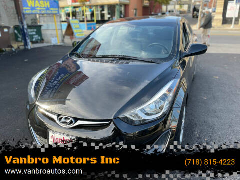 2016 Hyundai Elantra for sale at Vanbro Motors Inc in Staten Island NY