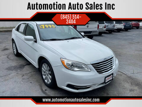 2012 Chrysler 200 for sale at Automotion Auto Sales Inc in Kingston NY