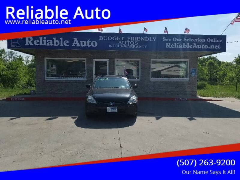 2003 Honda Accord for sale at Reliable Auto in Cannon Falls MN
