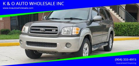 2004 Toyota Sequoia for sale at K & O AUTO WHOLESALE INC in Jacksonville FL
