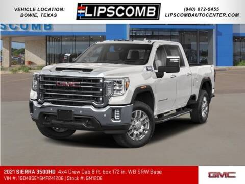 2021 GMC Sierra 3500HD CC for sale at Lipscomb Auto Center in Bowie TX