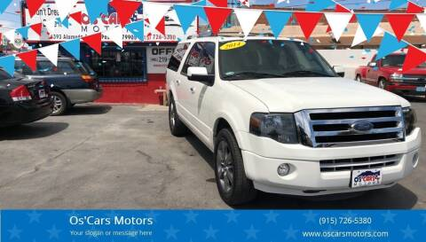 2014 Ford Expedition EL for sale at Os'Cars Motors in El Paso TX
