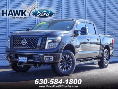2017 Nissan Titan for sale at Hawk Ford of St. Charles in St Charles IL